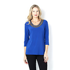 Mr Max Embellished Round Neck Top