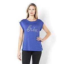 Biba Stud Slogan T-Shirt