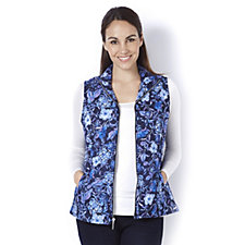 Weekend Printed Gilet by Susan Graver