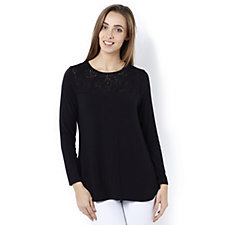 Antthony Designs Burnout Detail Long Sleeve Top