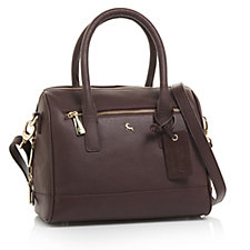 Ashwood Leather Bowling Bag with Detachable Crossbody Strap