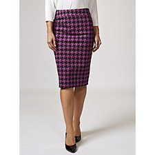 168339 - Ruth Langsford Hounds Tooth Pencil Skirt