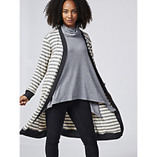 Christopher Fink Long Sleeve Striped Duster