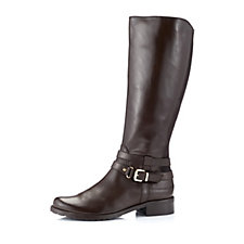 156040 - Clarks Ness Abbey Italian Leather Riding Boot Wide Fit
