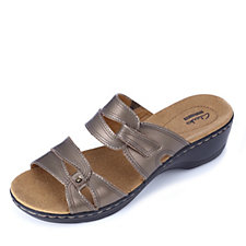 Clarks Hayla Canyon Leather Double Strap Sandal