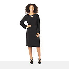 Tiana B Long Sleeve Elasticated Cuff Jersey Dress