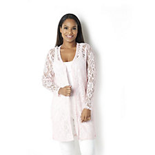 Sparkle Flower Lace Duster by Michele Hope