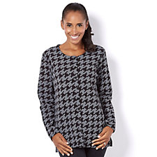 Houndstooth Print Sparkle Cardigan by Michele Hope