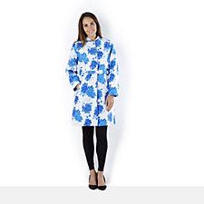 Isaac Mizrahi Live Floral Jacquard Coat