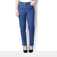 C. Wonder Slim Leg Ankle Length Frayed Hem Jeans