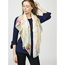 Butler & Wilson Flowers Print Silk Scarf