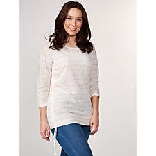 Marble 3/4 Sleeve Printed Top & Vest Top Set