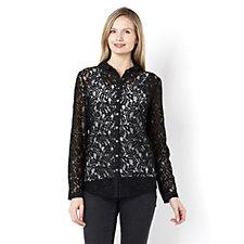 Biba Lace Button Detail Shirt