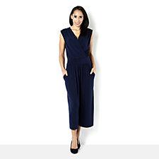 Kim & Co Brazil Knit Sleeveless Gaucho Style Jumpsuit