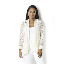 Flower Star Lace Cardigan by Michele Hope
