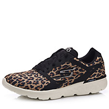 Skechers GOrun 400 Leopard Printed Mesh Lace Up Trainer