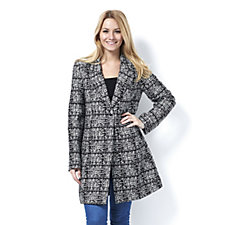 Centigrade Abstract Jacquard Single Button Tailored Jacket