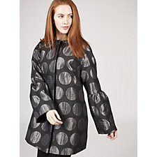 Helene Berman Circle Print Trumpet Sleeve Coat
