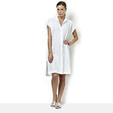 Join Clothes Cotton Button Through Cap Sleeve Shirt Tunic