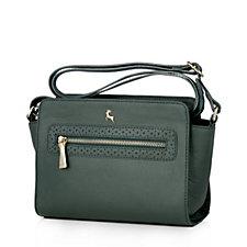 Ashwood Zip Crossbody Bag with Perforation Detail