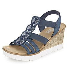 171841 - Rieker Wedge Elasticated Sandal