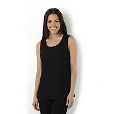 Jacquard Lace Short Sleeve Top by Susan Graver