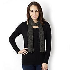 Lurex Knit Jumper & Pointelle Scarf by Nina Leonard