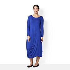 Yong Kim Modal Maxi Dress with Side Gathered Hem