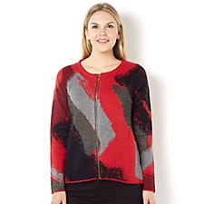 Knitwear by Etoile Zip Through Jacquard Jacket