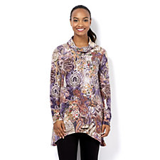 Mr Max Printed Cowl Neck Tunic