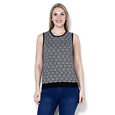 C. Wonder Geo Jacquard Sweater Knit Vest Top