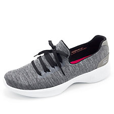 Skechers GOwalk 4 All Day Comfort Heathered Slip On Trainer with Lace Detail
