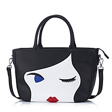 Lulu Guinness Lulu Doll Face Large Leather Wanda Crossbody Bag