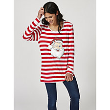 Antthony Designs Long Sleeve Christmas Top