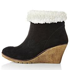 Skechers Dandy Faux Fur Trim Wedge Boot