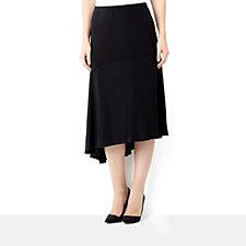 Yong Kim Jersey Midi Skirt with Asymmetric Design