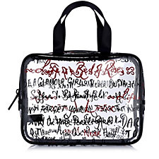 Lulu Guinness Sayings Print Vinyl Cosmetic Case