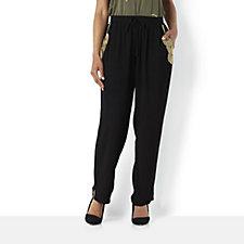Biba Embellished Pocket Drawstring Slouch Trousers