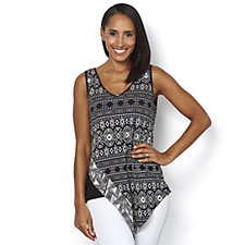 Andrew Yu Mix Printed Sleeveless Top