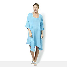 Join Clothes Soft Cotton Asymmetric Tunic Dress