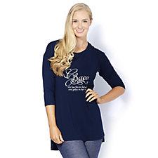Grace Short Sleeve Slogan Tunic