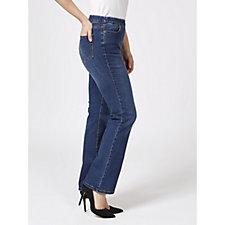 Denim & Co. Modern Denim Lightly Boot Cut Jeans Regular