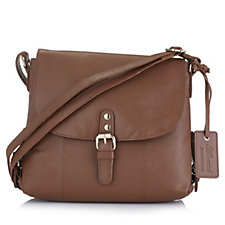 171143 - Ashwood Leather Flapover Crossbody Bag