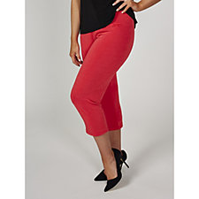 Kim & Co Slinky Cropped Narrow Leg Trousers