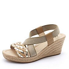 Adesso Alicia Multi Strap Wedge Shoe