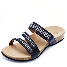 Vionic Orthotic Afton Leather Sandal with FMT Technology