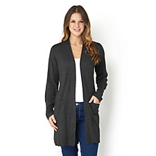 Longline Knitted Cardigan by Susan Graver