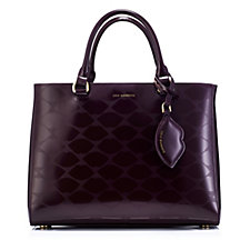 156444 - Lulu Guinness Amelia Lip Design Medium Tote Bag with Lip Charm