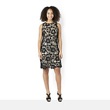 Ronni Nicole 'O So Slim' Floral Lace Sleeveless Shift Dress