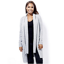 Absolutely Famous Cable Front Cardigan with Matching Scarf